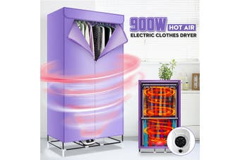 900W Hot Air Clothes Dryer Electric Cloth Drying Machine Home Indoor Wardrobe