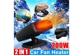 Portable Car Heater Fan Cold/Hot Vehicle Ceramic Heating Defroster Demister