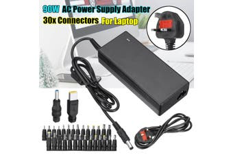 Universal 90W AC Power Supply Adapter Transformer Charger + 30 Tip For Laptop UK