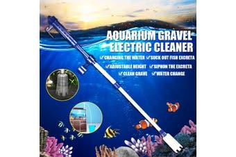 220V Electric Aquarium Syphon Fish Tank Pump Vacuum Gravel Water Filter Sand Cleaner