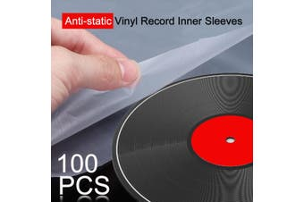 "100PCS 12"" Vinyl Record Protecter LP Record Plastic Bags Anti-static Record Sleeves Outer Inner Plastic Clear Cover Container"