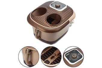Foot Spa Bath Oxygen Bubbles Therapy Rolling Vibration Heat Electric Massager