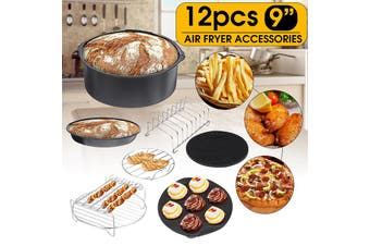 Universal Air Fryer Accessories Cooking Baking Set Dish Cake Pizza Pan Skewer