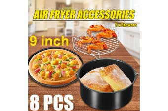Air Fryer Accessories Cooking Baking Set Dish Cake Pizza Pan Skewer Home Party