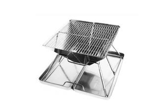 Portable Folding Charcoal BBQ Grill Outdoor Camp Stainless Steel