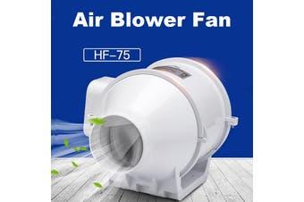 3 Inch Inline Duct Hydroponic Air Blower Fan Ventilation System Low Noise Fan