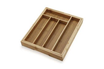 Bamboo Wooden Expandable Cutlery Tray Holder Tidy Drawer Draw Organiser Storage