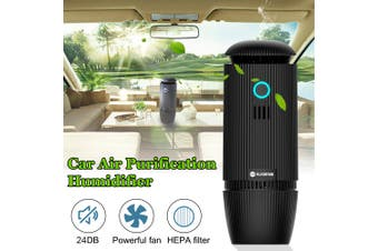 Augienb Vehicle Car Air Purifier Cup Design Ultrasonic Atomization Negative Ion Purification And Humidification Atomization Aromatherapy
