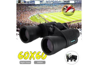 60X60 5000M Day/Night Vision Outdoor Portable Binoculars High-definition High Power Telescope HD Zoom Outdoor Hiking Telescope(black,90000 m)
