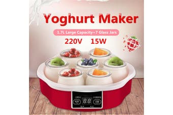 Super Deal+Limited Offer1.7L Yoghurt Maker w/Timer 7 Glass Jars Automatic Smart Touch Screen Control Yoghurt Maker With Timer & 7 Glass Jars Automatic Smart Touch Screen Control Hot