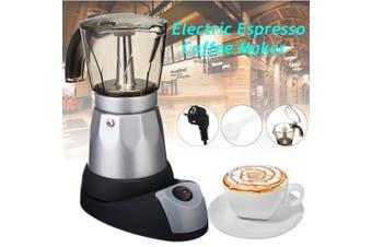 Electric Espresso Coffee Maker 50ml 6 Cups Italian Percolator Moka Pot