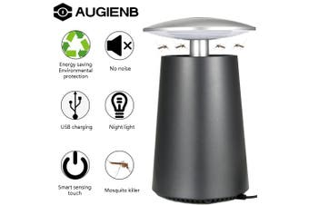 AUGIENB USB Automatic Electric Mosquito Killer Lamp Mute Trap Touch Smart Control Switch Night Light