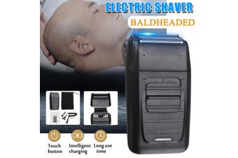 Rechargeable Men's Beard Bald Razor Cordless Dual Foil Trimmer