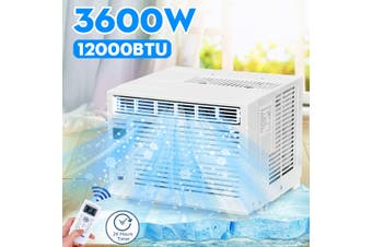 12000BTU 3600W Window Air Conditioner Cooling Cooler Capacity 24H Timer Dehumidifier W/ Remote Control AC 220-240V