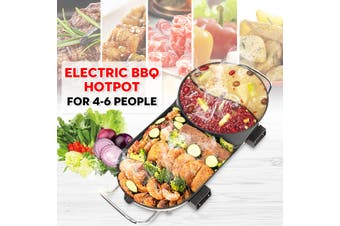 Electric Teppanyaki Barbecue BBQ Grill Hotpot Table Smokeless Plate 5-6Person