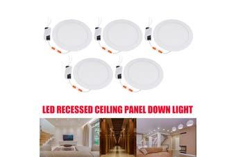 5PCS Ultra thin LED Down light lamp 21W led lighting 2100LM Recessed grid downlight slim Round panel light Cool White