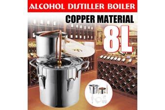 8L Alcohol Water Distiller Copper Wine Making Tool Household Bar Sets Kitchen