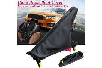 Hand Brake Boot Cover Black PU Leather For Ford Falcon FG FG-X 2008-2018