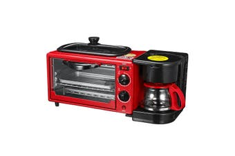 3 in 1 Home Breakfast Machine Coffee Maker Frying Pan Bread Toaster Electric Oven