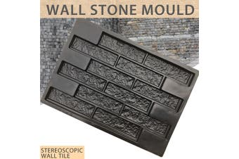 Wall Brick Stone Mould Pavement Mold Concrete Cement Stepping Garden DIY Decor