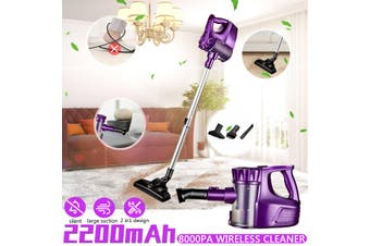 2 In1 8000Pa 120W 100-240V Cordless Handheld Stick Vacuum Cleaner Suction LED Light Ultra-quiet