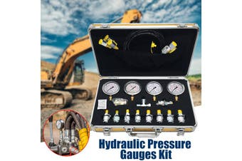 10/25/40/60mpa Hydraulic Pressure Guage Test Kit with 4pcs Oil Gauges Test Hose