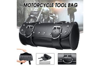 Motorcycle Scooter Saddlebag Tool Roll Bag Luggage Barrel PU Leathe For Universal Motorcycle