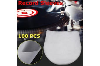 "25.5cm/10"" 100PCS Plastic Record Inner Sleeves Round Transparent for Vinyl LP's"