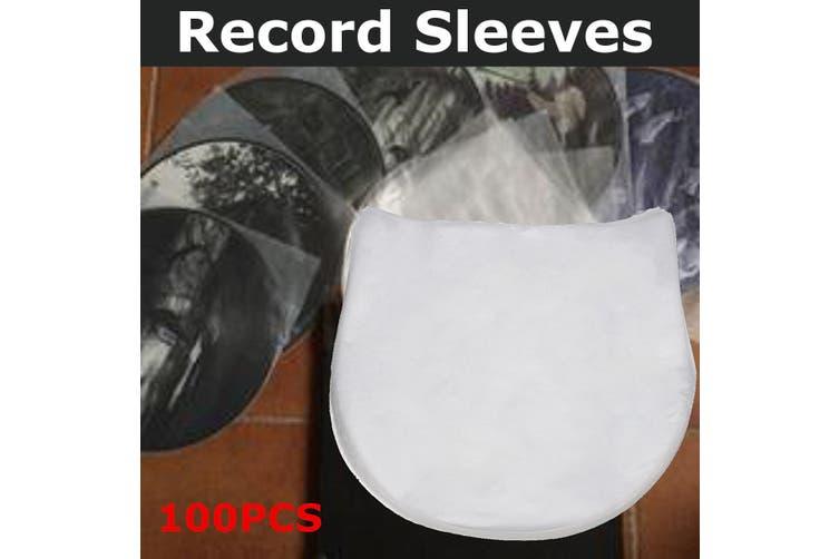 "25.5cm/10"" 100PCS Plastic Record Inner Sleeves Round Transparent for Vinyl LP's"