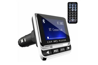 1.4 Inch FM LCD Screen Wireless FM Transmitter Bluetooth Car MP3 Player Car Kit with USB Charger Support TF Card Line-in AUX
