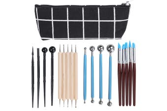 18pcs Modeling Shapers Smoothing Sculpting Polymer Clay Carving Tool