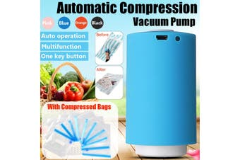 Multi-colors USB Rechargeable Mini Vacuum Pump Automatic Portable Electric Compression with Bags or ONLY 10 Compressed bags