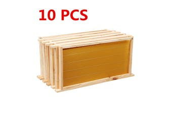 10 Pack Bees Wax Foundation & 10 Alliance Pine Beehive Frames Beekeeping Combo