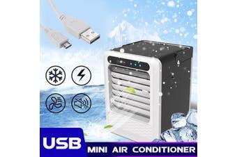 USB Desktop Standing Fan 90° 3s Quick Cooling Portable Air Conditioner Cooler(USB Plug)
