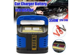 12V/24V 35-200AH Automatic Intelligent Car Battery Charger Pulse Repair Starter