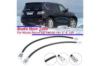 Braided Brake Hose Tube For Nissan Patrol GQ Y60 GU Y61 2''-5'' Lifts NU 1988-10