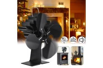 160-210CFM 3Blades/4Blades Stove Fan Heat Powered Fireplace Fan,Thermal Fan for Wood Log Burner(4 Blades)