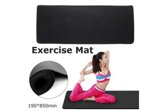 Exercise Mat 3x6.5-ft Gym Equipment GoFit For Treadmill Bike Protect Floor Black