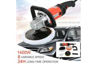 AU 8 Speed 1400w 220V Electric Car Polisher Machine Polishing Buffing Waxer