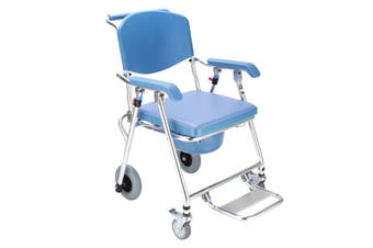 Portable Folding Commode Shower Toilet Bath Chair Tool Wheelchair Aid Mobile