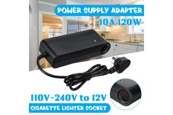 AC 110V~220V 50/60HZ to DC 12V 10A 120W PWM Power Supply Adapter Converter Ciga rette Socket for Car Refrigerator Vacuum Cleaner Pump