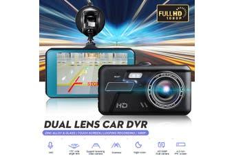 4'' HD 1080P Dual Lens Car DVR Front Rear Camera Video Dash Cam Recorder 170°
