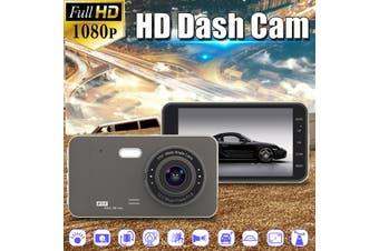 4'' Car DVR Front & Rear 1080P Camera HD Dual Lens 170° Dash Cam Video Recorder