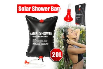 20L Portable Outdoor Solar Energy Heated Storage Camping Shower Camp Water Bag Bladder Hiking Traveling Bathing Beach Travel(black,without Temperature)
