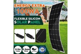 100W 18V Flexible Solar Powered Panel Monocrystalline Waterproof Connector Charger Car Charging For Motorhome Boat Outdoor Lighting Home Camping
