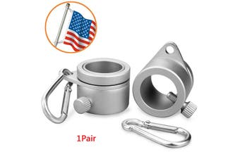 2Pcs Alloy Metal Flag Pole Mounting Ring Clip Rotating Flagpole Mounting Rings