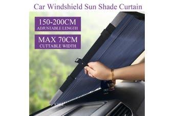 70*200cm Auto Car Folding Retractable Curtain Front Windshield Sun Shade Anti-UV