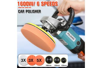 1600w 220V Electric Car Polisher Sander Buffer Polishing Machine Kit