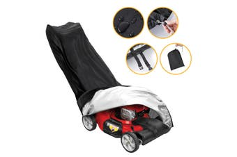 Tvird Lawn Mower Cover-Premium Oxford Heavy Duty Push Mower Cover,Anti UV&Mildew&Dust&Water Universal Fit Size with Drawstring/Storage Bag and Buckle 210D Black