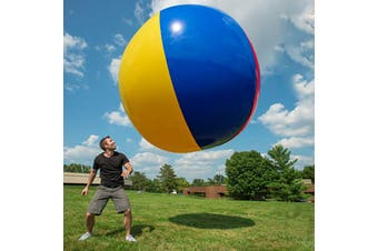 125cm Large Giant Beach Rainbow-Color Ball Inflatable Blow Up Pool Swimming Toys